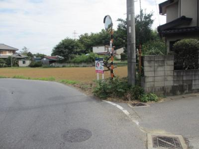 【前面道路含む現地写真】花見川区大日町 売地