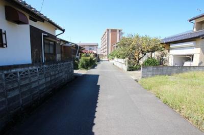 【前面道路含む現地写真】筑後市常用戸建