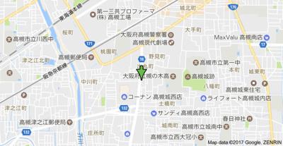 【地図】メゾン北陽 (株)Roots