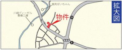 【地図】浦添市仲間 第1 2号棟