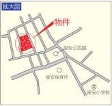 【地図】豊見城市座安 第1 4号棟