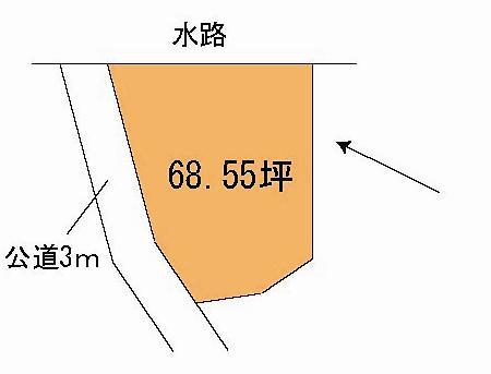 【土地図】常陸大宮市富岡土地