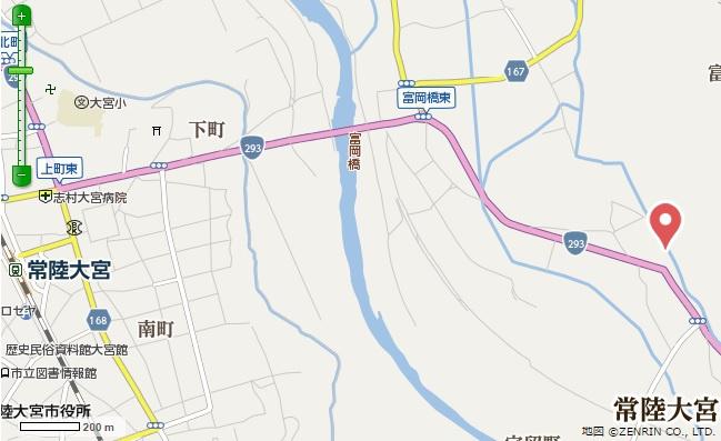 【地図】常陸大宮市富岡土地