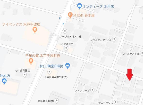【地図】千波町土地