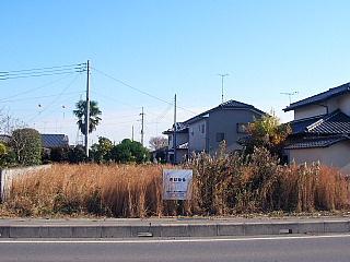 【前面道路含む現地写真】那珂市後台土地