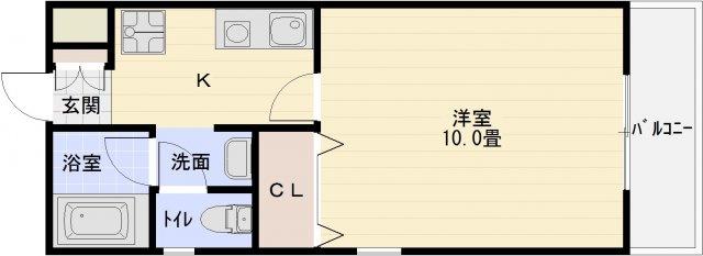 河内国分駅 大阪教育大前駅 1K 洋室10畳