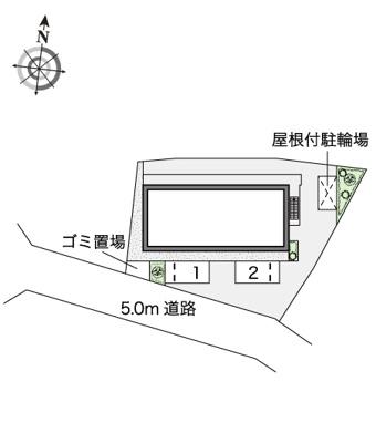 【地図】メゾン ド ブーケⅡ