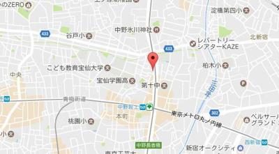 【地図】ステージファースト中野坂上
