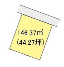 【区画図】【売地】河北中学校区・29407
