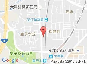 【地図】ミラージュ大津京