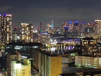 南西向きバルコニーからの眺望、東京タワーも望めます(昼)