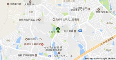 【地図】高槻阿武山二番街2号棟 (株)Roots