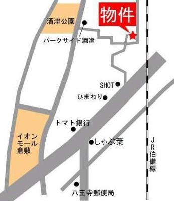 ボワ・ラヴィーヌ(倉敷市大内 戸建て 賃貸)地図