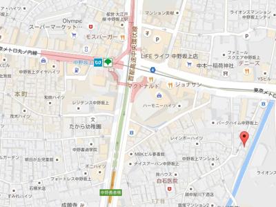 【地図】ラド・デルリオ中野坂上