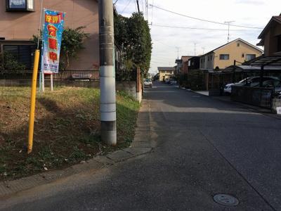 【前面道路含む現地写真】守谷市ひがし野2丁目9番