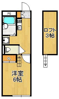 【居間・リビング】レオパレスヴィラージュ長洲Ⅱ