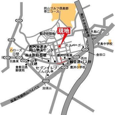 みつばちガーデン(倉敷市中帯江戸建て)地図