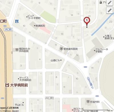 【地図】サンコーポフェニックス