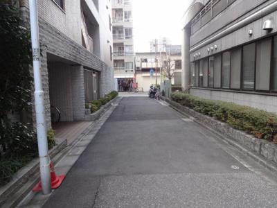 レフィーズ上野 建物前(駐輪場前)