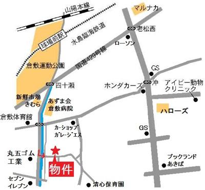 【地図】クラッセクラシキ