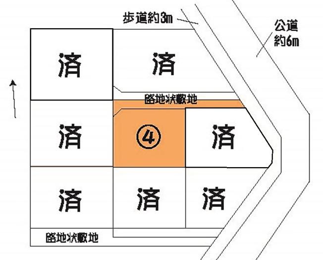【土地図】ひたちなか市田中後8区画土地