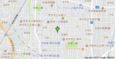 【地図】メゾンカーサー2号館