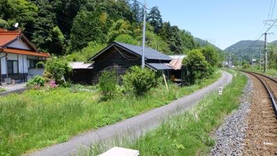【前面道路含む現地写真】日野郡日野町黒坂売土地