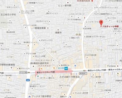 【地図】パルティーレ中野