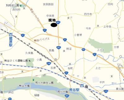 【地図】上奈良住居付店舗
