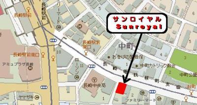 【地図】サンロイヤルガレージ
