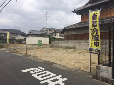 【前面道路含む現地写真】沢良宜西売土地【建築条件付売土地】