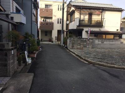 【前面道路含む現地写真】東奈良2丁目売土地【建築条件付売土地】