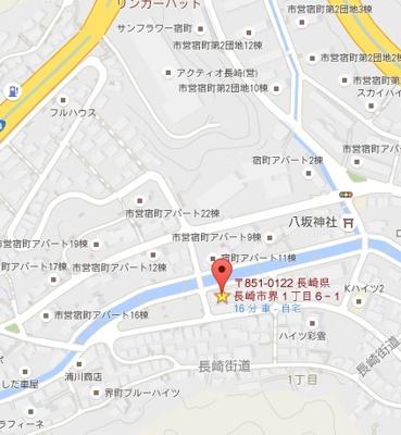 【地図】日見ガレージ