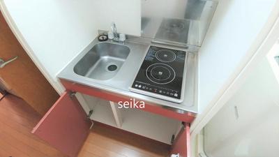 同タイプキッチン・2口電気コンロ完備