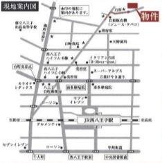 【地図】八王子一棟売店舗