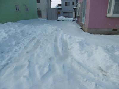 冬は雪をためておけます
