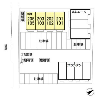 (仮)D-room稲毛C棟の区画図
