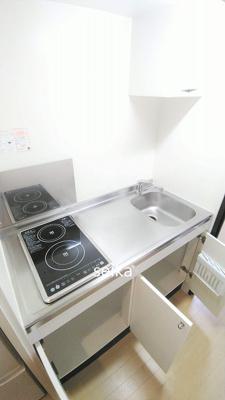 キッチンスペースもあって、お料理やお掃除もラクラク