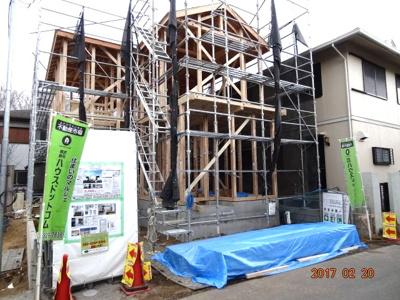 【外観】さいたま市緑区三室 デザイン新築分譲住宅全2棟