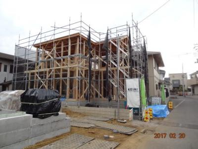 【前面道路含む現地写真】さいたま市緑区三室 デザイン新築分譲住宅全2棟
