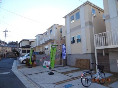 【前面道路含む現地写真】さいたま市緑区三室 新築デザイナーズハウス