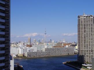 北東側バルコニーからは東京スカイツリーが望めます。