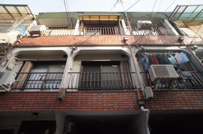 【外観】喜連5丁目車庫付きテラスハウス