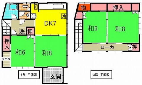 4DK、和室の醸し出す空間は不思議と心が落ち着きます