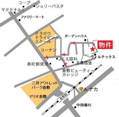 【地図】プリメールⅢ