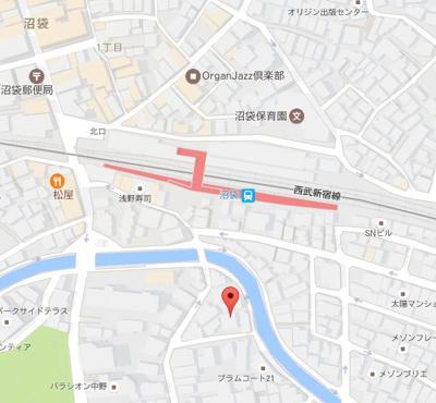 【地図】グラシア沼袋