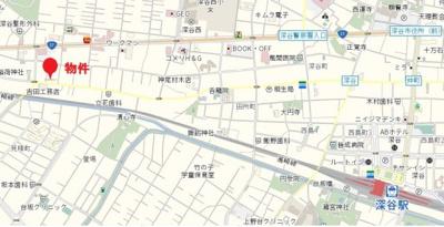 【地図】深谷市萱場売地