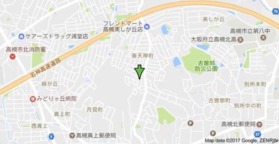 【地図】天神ハイツB (株)Roots