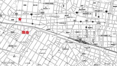 【地図】萱場売地