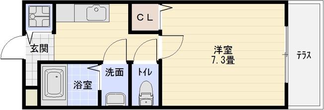 ベルドミール末広2番館 1K